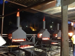 Grills for the polenta& sausage at the Monterchi polenta sager (festival)