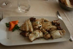 Grilled Squid Salad