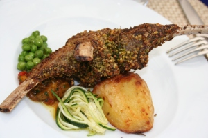 Rack of Lamb In a pistachio crust