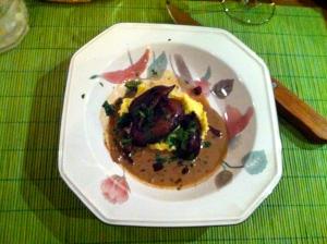 Silky Polenta  Rich Mushroom Sauce