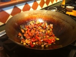 Stir Frying the Twice Cooked Pork