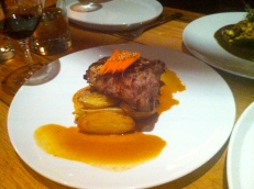 Ponche brined pork chop