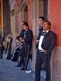 Mariachi band waiting for work