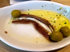 A few anchovies left