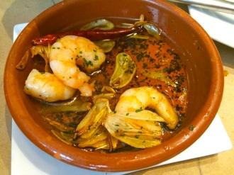 Shrimp in garlic & chili