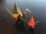 Welcome origami cranes