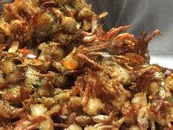 Delicious crunchy mini crabs