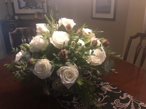 White Roses from my Mom